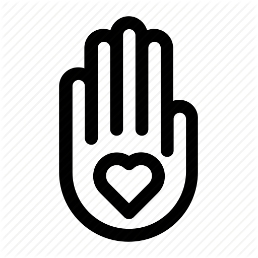 Image of hand representing volunteer